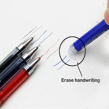 3pcs/lot Remove by friction Gel Pen Is Removed Friction Special  Erasable Blue Black Ink Magic 0.5mm ZXB002C