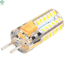 GY6.35 LED Bulb 3W Bombillas 48 SMD 3014 Silicone Crystal Spot Light 12V AC/DC Corn Car Camper Chandelier Crystal Lamps