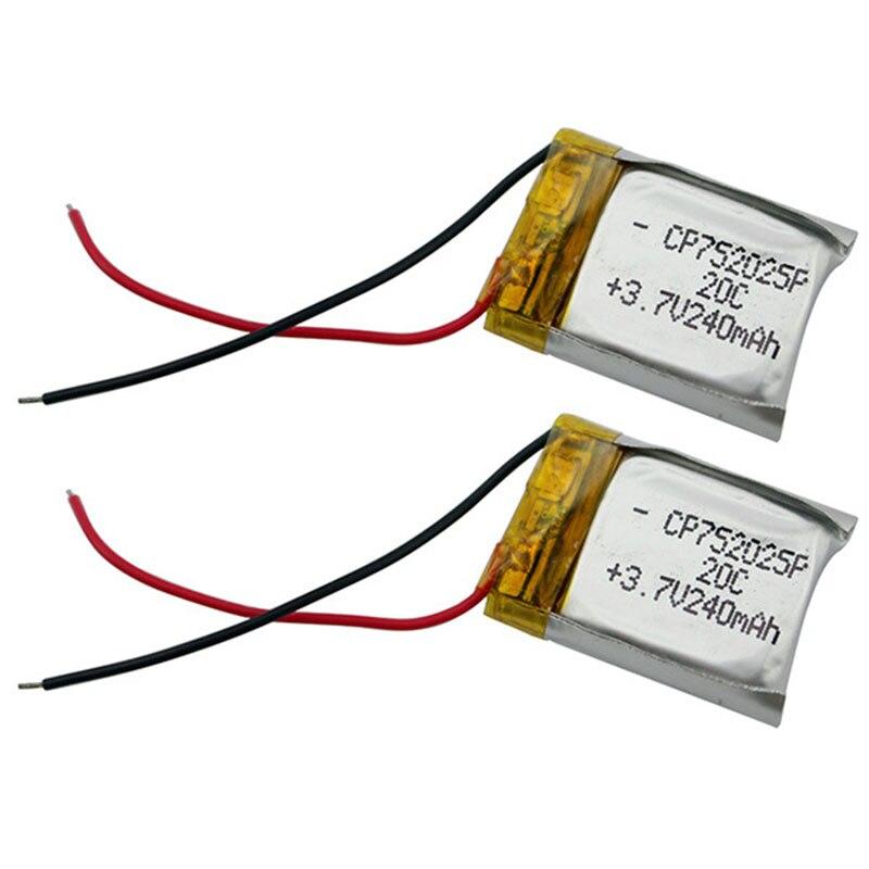 3,7 V 240 mAh RC Hubschrauber Lipo Li-polymer Batterie 20C für WLtoys V686 X250 Q222 V686G Teile Hohe qualität Wiederaufladbare Batterien