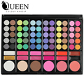78 Colors Makeup Kit including Eyeshadow Contour Concealing and Lip Gloss  Brush Portable Pressed Plastic Makeup Palette AS78C