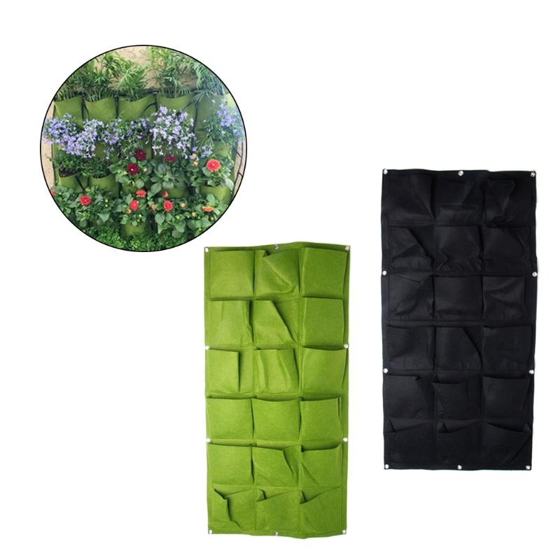 bolsillo interior balcn planta de jardinera hierba jardn vertical pared que cuelga vertical de fieltro