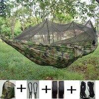 Double Parachute Mosquito Net Hammock Chair Tourism Flyknit Hammock Rede Garden Swing Camping Hammock Sleeping Hamac