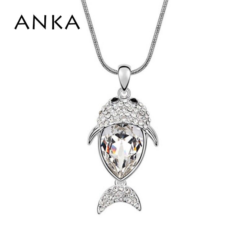 fa01da5bb745 5 colores cristal de Swarovski COLLAR COLGANTE para las mujeres collar de  los pescados de la manera nueva venta caliente  93924