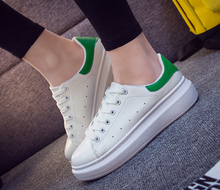 2016 hot style in the spring and autumn female thick white shoe bottom shoes with flat sandals tide leisure students heighten ru