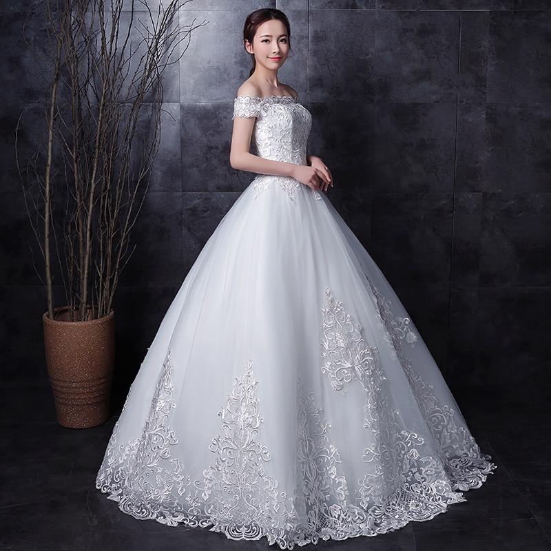 long half sleeve muslim lace wedding dress high quality 2019 bride simple bridal gown real photo weddingdress vestido de noiva in Wedding Dresses from Weddings Events