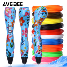 New model 3d magic pen 3 d printing pen set drawing pens with 100 Meter 10 Color  PLA filament refill for birthdays gift 3d pen 3 d printing drawing pens with lcd screen for doodle model making arts and crafts with 100 meter 1 75mm pla filament