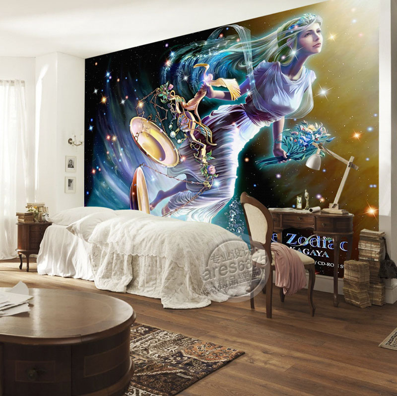 Buy libra wallpaper brilliant galaxy for 3d room decor