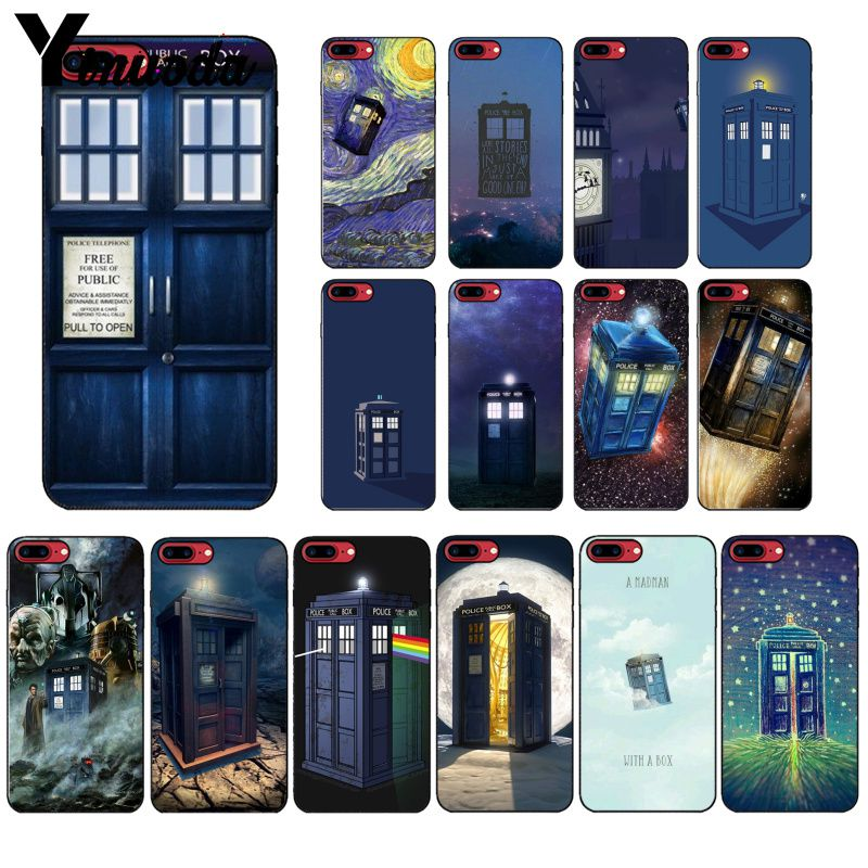 Yinuoda Tardis Arzt Dr Who Police <font><b>Box</b></font> Zeichnung Telefon Fall abdeckung Shell für Apple <font><b>iPhone</b></font> 8 7 6 6S plus X XS MAX 5 5S SE XR Abdeckung image