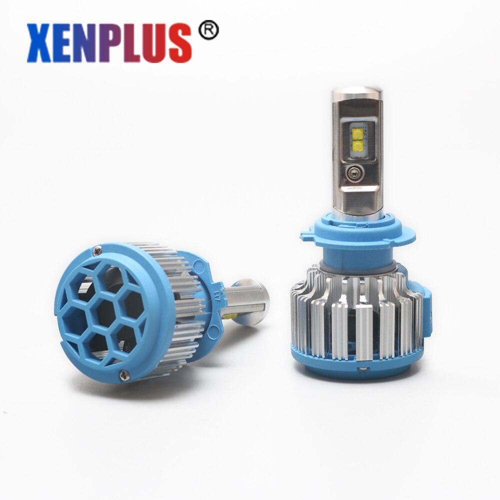 Xenplus 2Pcs Car LED Light Car Styling Headlamp T1 12V H4 H1 H3 H7 H8 H9
