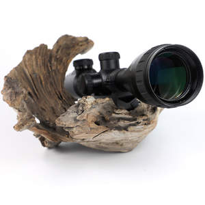 Image 3 - KANDAR KH 4 12x42 AOE Hunting Riflescope Red Illuminated Glass Etched Reticle Sniper Optic Rifle Scope Sight with Ring