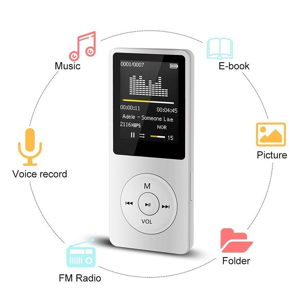 Mp3-Player Walkman Tf-Card Lcd-Screen Video-Games Movie-Support Fm-Radio Hifi
