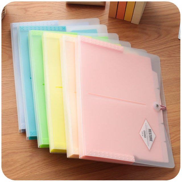 Korean Office File Folders Multi layer Expanding File Folder A4