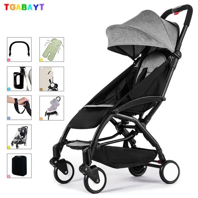 Original yoya ligero cochecito puede sentarse y mentira 175 grados paraguas plegable carro de la luz ultra-bebé coche portátil en el avión