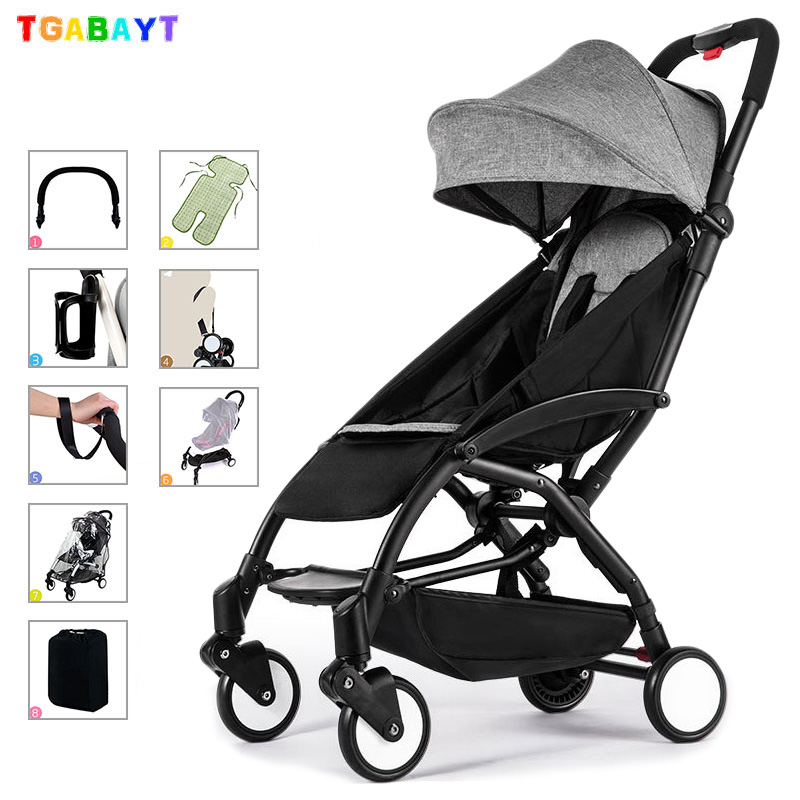 Original yoya lightweight stroller can sit&lie 175 degree folding umbrella trolley ultra light baby car portable on the airplane