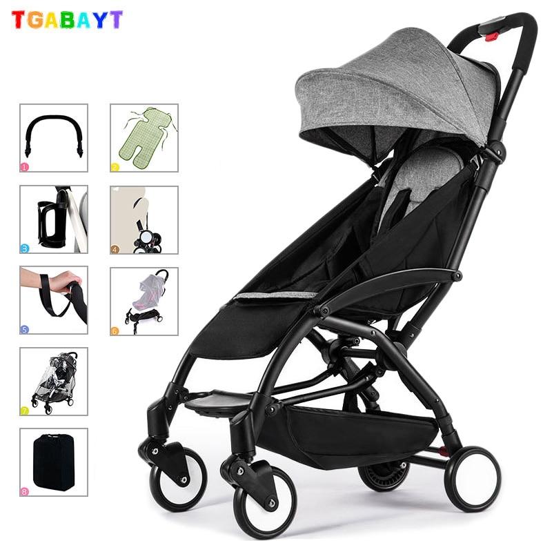 Yoya Original leve carrinho de criança pode sentar & mentir 175 graus dobrável carrinho de guarda-chuva carro ultra-leve carrinho de bebê portátil em o avião