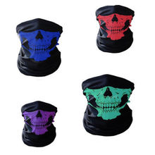 цена на Motorcycle Face Mask 2017 Halloween Bicycle Ski Skull Half Face Mask Ghost Scarf Multi Use Neck Warmer 2019 Hot Sale