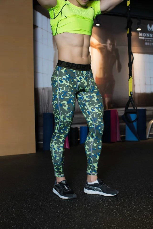 New Camouflage Compression Pants Men Fitness Tights Gym Cossfit Mens Joggers Bodybuilding Leggings