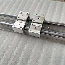 2 unids SBR20 1300mm Partidario Carriles 4 unids SBR20UU Bloques de CNC Eje Lineal Rieles de Soporte y Teniendo bloques