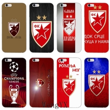 Чехол для телефона Serbia FK Crvena zvezda из мягкого силикона и ТПУ для Apple iPhone 4, 4S, 5, 5S, 5c, SE, 6, 6s, 7, 8 plus, X, XR, XS Max