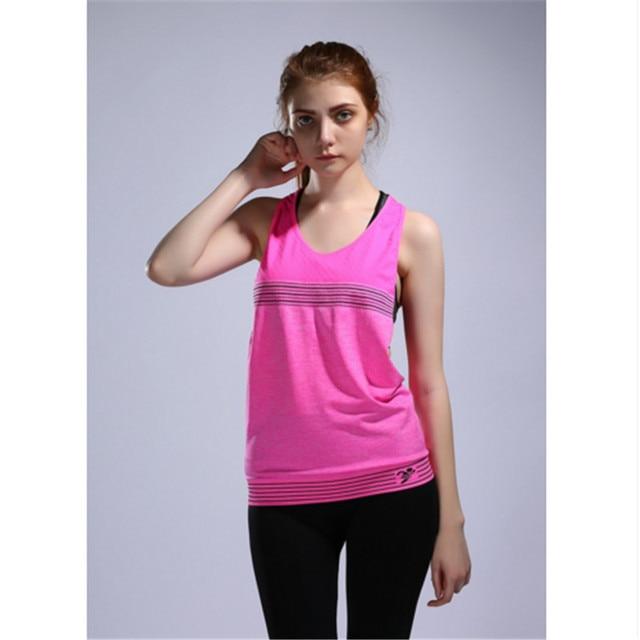 a3cba078 € 8.92 |Yoga mujeres colete profesional Correr atletismo transpirable  fitness sexy Camisa sin mangas para la ropa de correr para mujeres en  Camisas ...