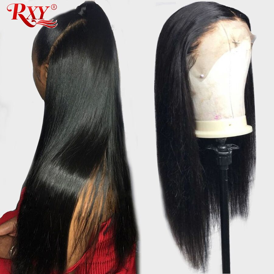 RXY 360 Lace Frontal Wig Pre Plucked With Baby Hair Lace Wig Lace Front Human Hair Wigs For Black Women Peruvian Remy Hair Wig