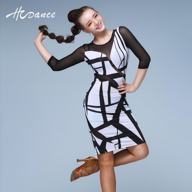 2016 hcdance sexy Latino danza vestido mujeres de manga larga ropa de baile  salsa Samba Tango rumba Flamengo Salón Latino vestido a343 en Latina de La  ... ed5ec60b59ae0