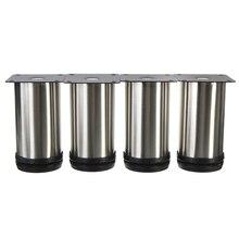 4 Stücke Schrank Beine Verstellbare Edelstahl Möbelfüße Runde Ständer Halter 10 cm