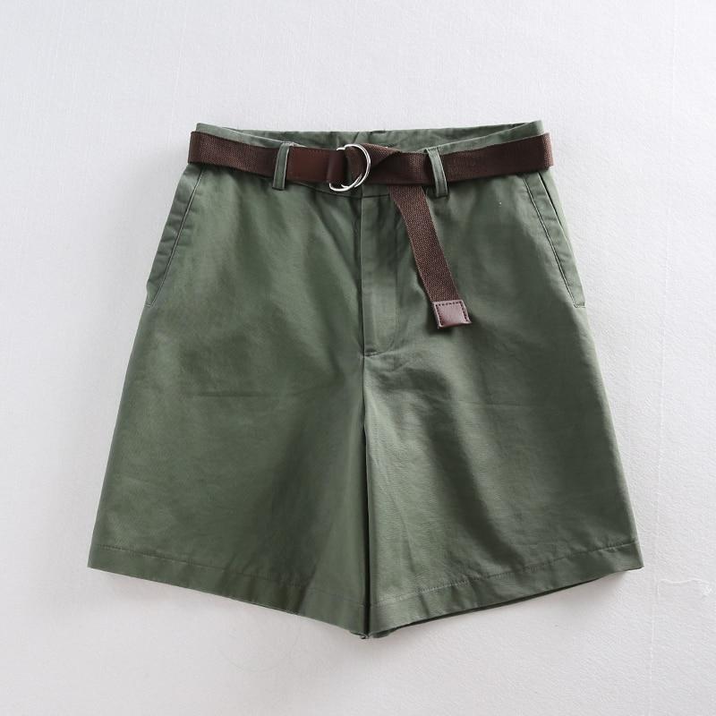 Casual Women Shorts A-line High Waist Slim Summer Shorts 32