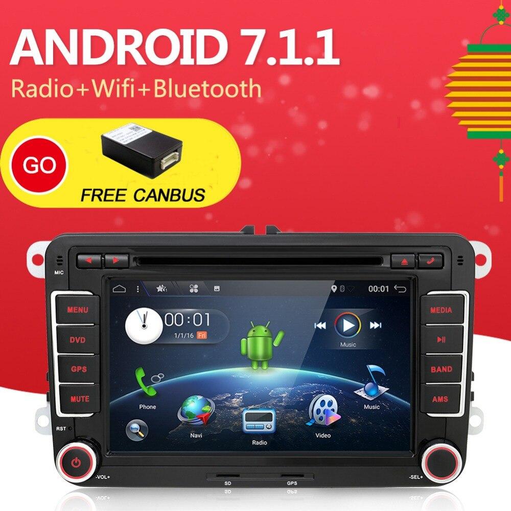 Android 7,1 dvd плеер автомобиля для VW MAGOTAN/CADDY/PASSAT/SAGITAR/GOLF/POLO gps, BT, 3g/Wifi, USB, HD tv (опционально) парковочная камера радио