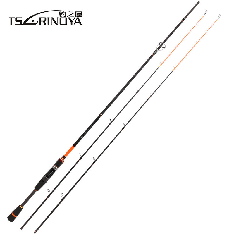 TSURINOYA JOY TOGETHER IV M +ML 2 Luminous Tips Casting Spinning Fishing Rod 2.1m 2 Section Carbon Fiber Ultralight Spinning Rod fishing joy every day 480g