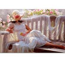 Опытный художник ручной работы музейное качество красота леди