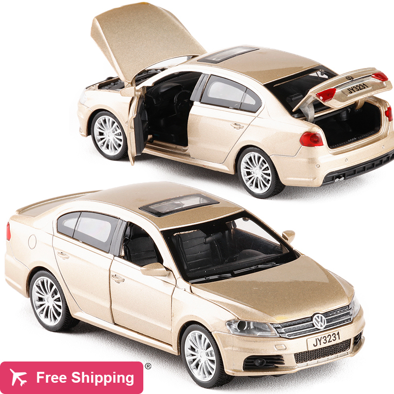 1:32 Alloy Volkswagen LAVIDA Car Model Toys Diecast Pull Back Car Acousto-optic Simulation Cars For Kids Toys Collection