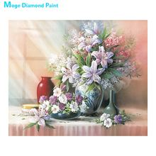 Desktop Still Life Flower vase Diamond Painting Full Round Moge New DIY Sticking Drill Cross Embroidery 5D Home Decoration