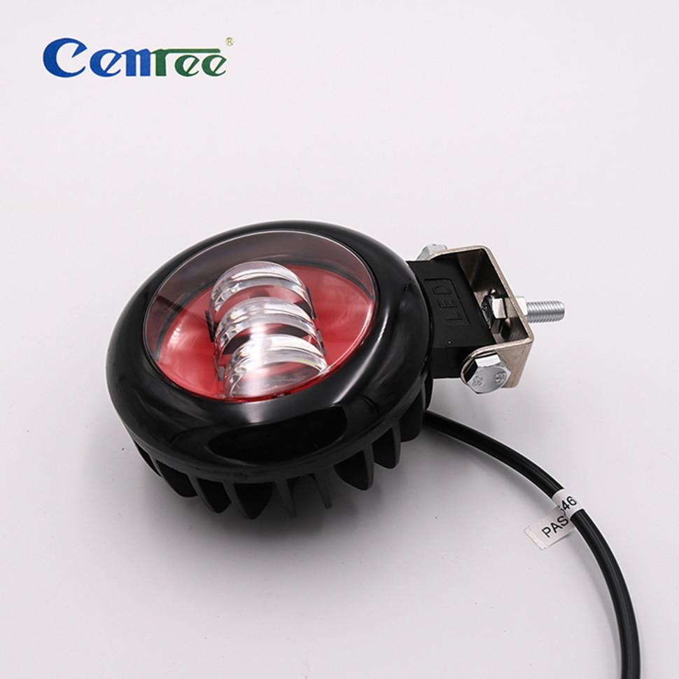 CENREE Wrangler 30W Round Fog Light Red  For Jeep Wrangler JK LJ TJ Headlight Trackor Boat Driving LED Lamp