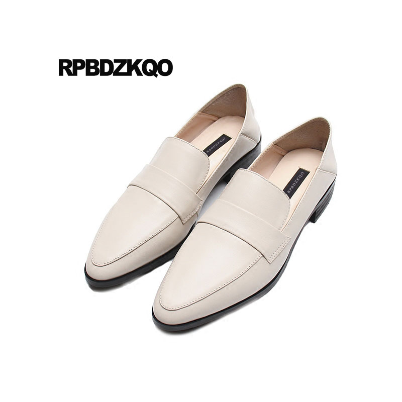 Designer Shoes China Women Slip On Drop Shipping Genuine Leather Flats Chinese 2018 White Pointed Toe British Style LadiesDesigner Shoes China Women Slip On Drop Shipping Genuine Leather Flats Chinese 2018 White Pointed Toe British Style Ladies