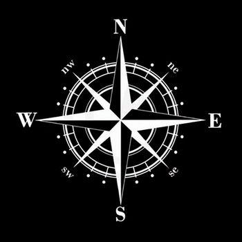 15cm*15cm Art Design Vinyl NSWE Compass Car Stickers Decals Black/Silver S6-3505 1