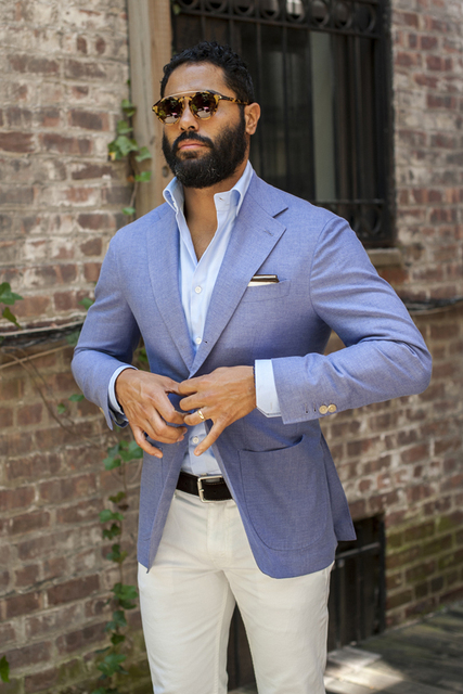 2017 Latest Coat Pant Designs Light Blue Men Suit Casual Slim Fit ...