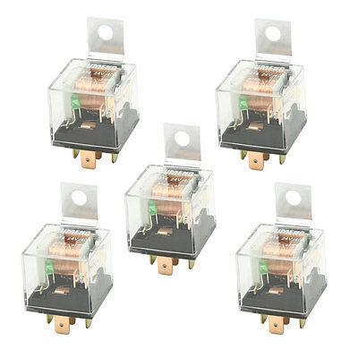 DC 24V 40A 1NO+1NC SPDT 5 Pin Male Plug Green Pilot Lamp Auto Car Relay 5 Pcs тени для век essence my must haves eyeshadow 20 цвет 20 black is back variant hex name 231f18