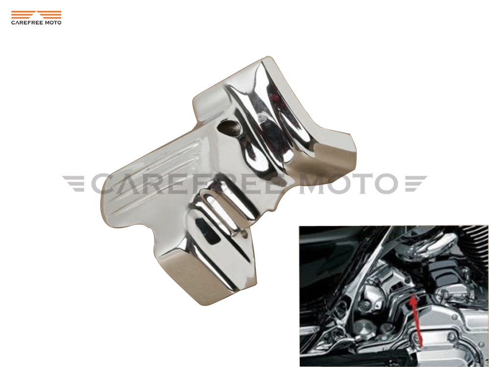 ФОТО 1 Pcs Chrome Motorcycle Starter Cover case for Harley FLHTC Electra Glide Classic 2007-2012 2013 2014 2015