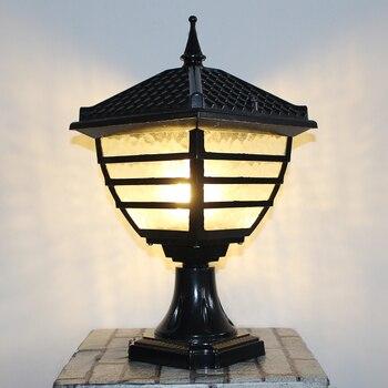 pillar lamp Large landscape Lamp outdoor lighting porch Garden Lamp novelty pavilion Waterproof Outdoor Wall Lamp LED Arandela