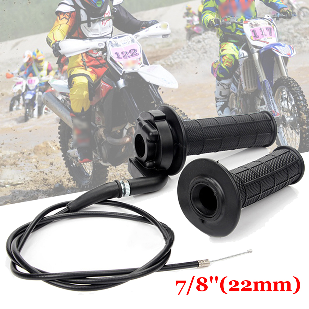 Image 3 - Hand Grips&Cable Set For ATV Quad Pit Dirt Bike 50 250cc Black Durable to use-in Car Stickers from Automobiles & Motorcycles