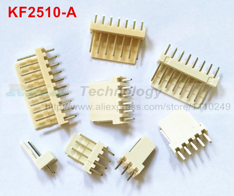 50pcs/lot KF2510 KF2510-2-12A 2.54 mm male connector Pin header 2.54mm 2,3,4,5,6,8-12pin free shipping 50pcs lot kf2510 kf2510 4y female connector housing 2 54mm 4pin free shipping