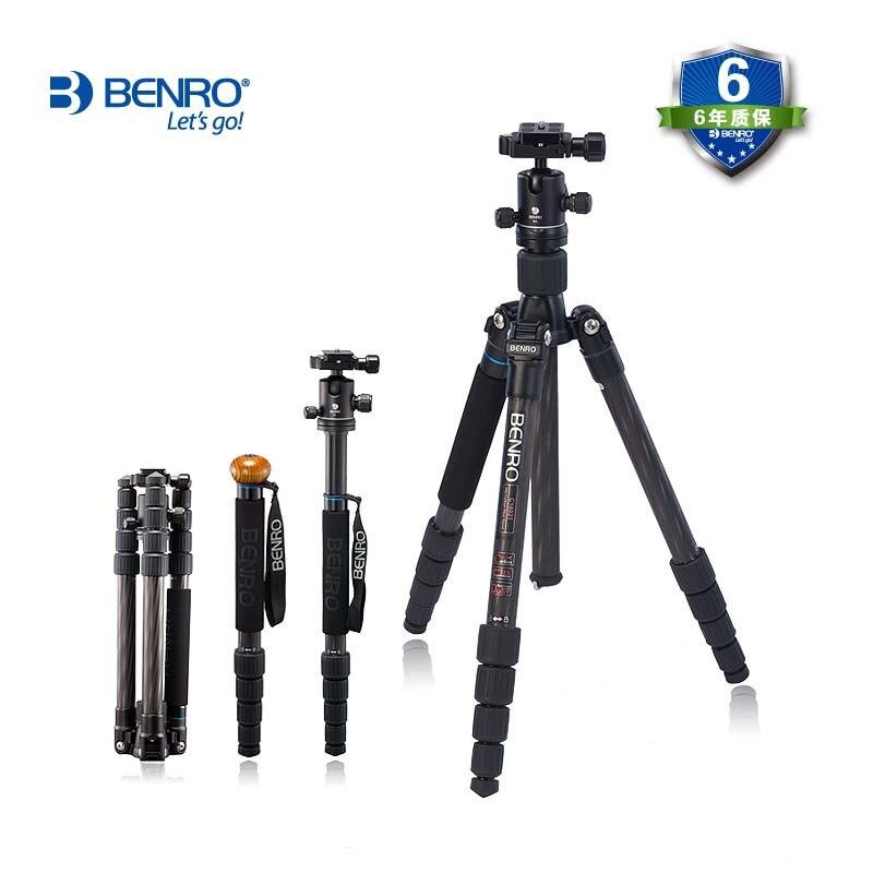 Tripé Benro monopé C1692TB0 cabeça do tripé portátil câmera SLR profissional de fibra de carbono genuíno