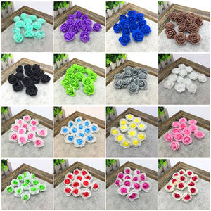 12 pcs Mini Foam Rose Artificial Flowers For Wedding Home Decoration Scrapbooking Fake Rose Flower #24 colors