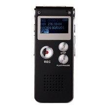 Mejor Precio Unidad USB Recargable 8 GB de Audio Digital Grabadora de Voz Del Dictáfono Reproductor de MP3 13.8