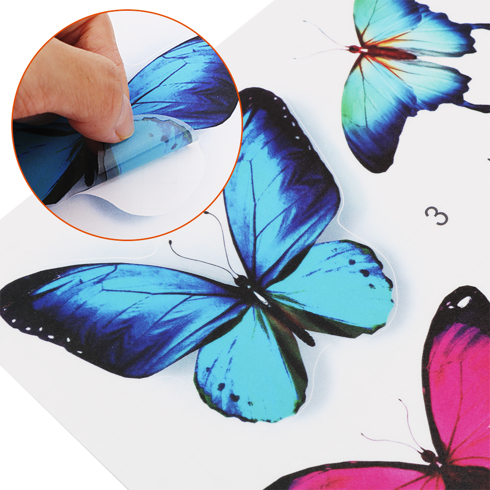 Car Sticker With Scraper Cover Cute Butterfly Leaf Funny Car Motorcycle Car Sticker Vinyl Graphic Sticker Car Styling Sticker