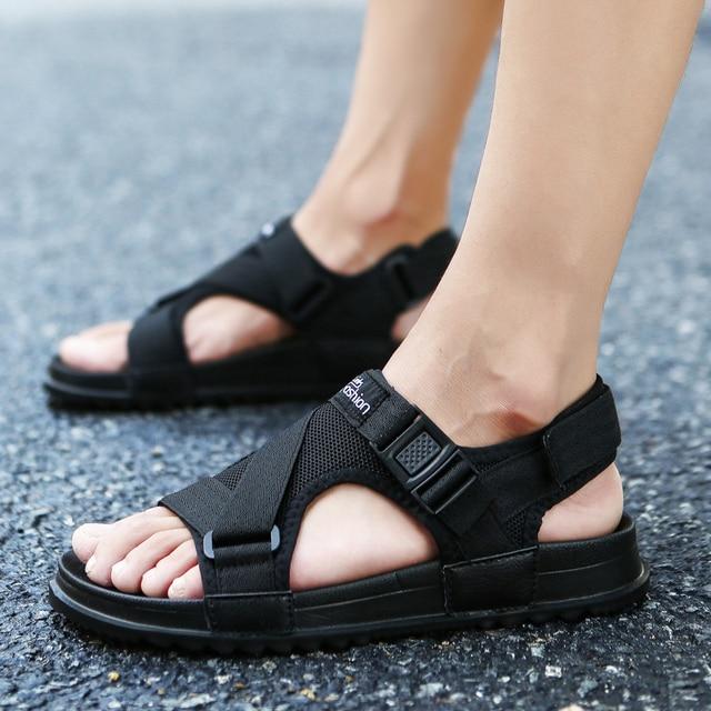 Sandalen Männer schuhe Sommer 2019 Strand Gladiator Mode herren Outdoor Sandalen Männer Schuhe Flip-Flops hausschuhe Flache Große größe 45 46