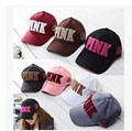 In 2016 the new leisure sports fashion value 3D stereo embroidery PINK couples men and women winter warm letter baseball cap