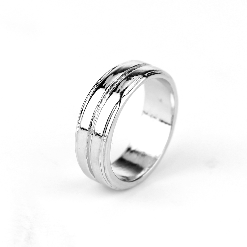 Drop Shipping The Supernatural Dean Ring High Quality Simple Vintage Silver Ring 2018 Women And Men