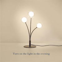 LED Table lamp for bedside dessers modern style desk lights classic design decorative three branchs with three LED bulbs